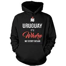 Uruguay It's Where My Story Began Funny Gift - Hoodie