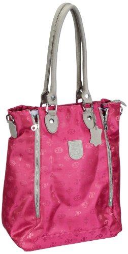 Poodlebags Club - Attrazione - Milano - pink - Bolsa de la compra de material sintético mujer Rosa - Pink (Pink)