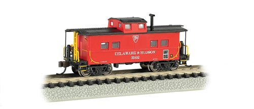 Bachmann Industries Northeast Steel Caboose Delaware and Hudson Train Car, N Scale