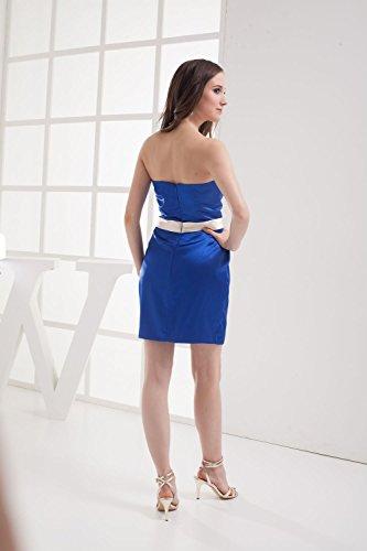 Bridal_Mall - Robe - Portefeuille - Sans Manche - Femme -  Bleu - 36
