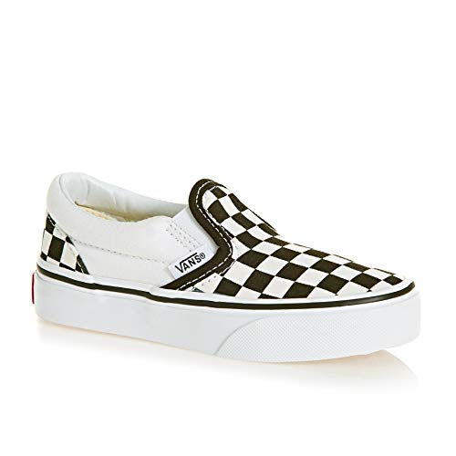 Vans Kids Classic Slip-On (Checkerboard) Black/True White VN000ZBU5GU Size 2.5 -