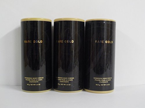 Avon Rare Gold Shimmering Body Powder 1.4 Oz. (Lot of 3)