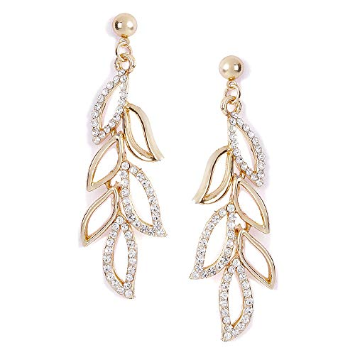 Shining Diva Fashion Women's 18K Stylish Fancy Party Wear Traditional Gold Plated Drop Earrings – Golden (9850er)