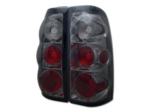 (HS Power Smoke Tint Altezza Tail Lights Lamps 1999-2002 Silverado/GMC Sierra Truck CAB JY)