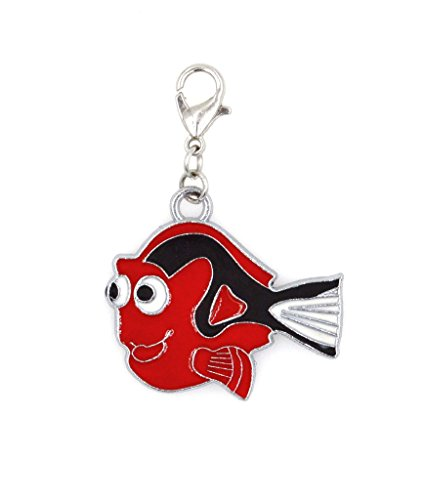 2-pc-set-stainless-steel-starter-charm-bracelet-and-clip-on-charm-red-dori-fish-75-95-adjustable-bra