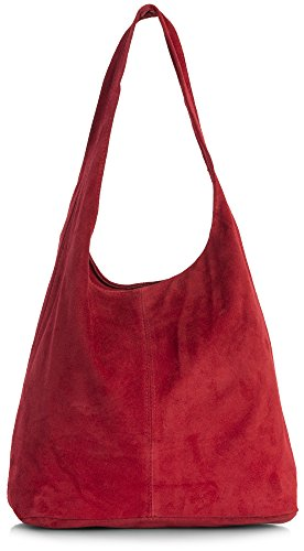 Red Leather Slouch Bag - 1