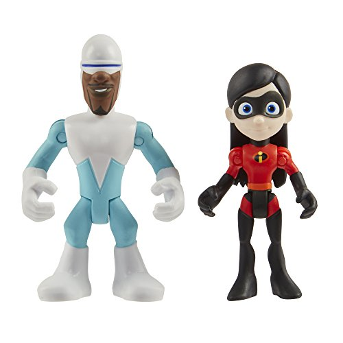 Action Figure Two Pack - The Incredibles 2 the Incredibles 2-3-Inch Precool Frozone & Violet 2-Pack Action Figures