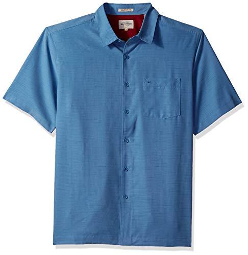 Quiksilver Waterman Men's Centinela 4 Button Down Shirt, Blue Shadow, -