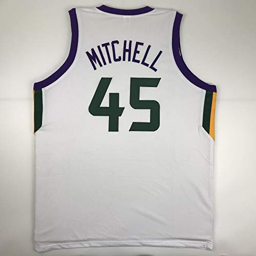 (Unsigned Donovan Mitchell Utah White Custom Stitched Basketball Jersey Size Men's XL New No Brands/Logos)