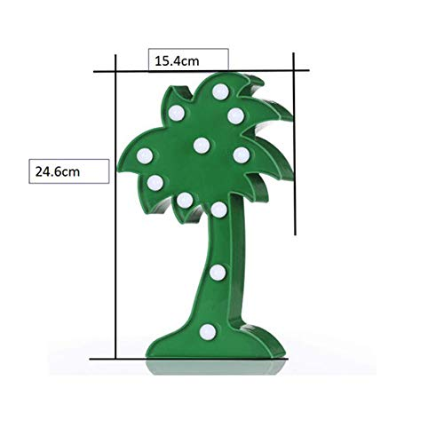 YAliDa 2019 clearance sale LED Children's Bedroom Cartoon Pineapple Table Coconut Tree NightLight Christmas Party Decor (Green, LED)