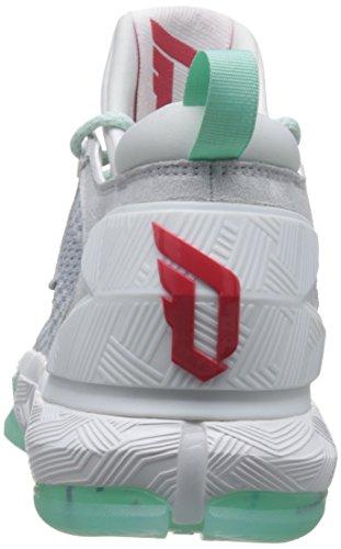 Scarpe Da Ginnastica Adidas D Lillard 2 Da Uomo In Pelle Da Basket Turchese-bianco-grigio