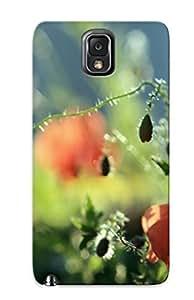 Catenaryoi Galaxy Note 3 Hybrid Tpu Case Cover Silicon Bumper Wild Poppies