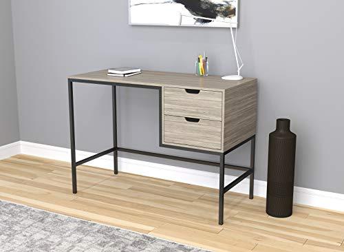 Safdie & Co. 81033.Z.74 Home Office Desk Computer Desk-48/Grey Wood/Black Metal ()