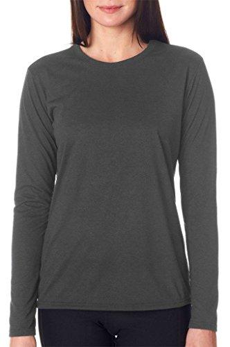 GILDAN - Camiseta - Asimétrico - Mujer gris oscuro