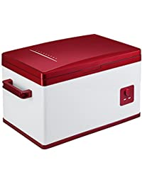 SL&BX Mini kühlteil,Insulin refrigerated box car refrigerator mini 30l small refrigerator freezer insulin refrigerated box-red 37x58x43.5cm(15x23x17inch)