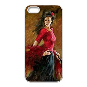 Flamenco Dancer 007 iPhone 4 4s Cell Phone Case White xlb2-391650