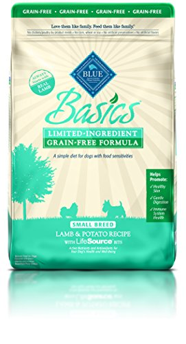 BLUE Basics Limited Ingredient Diet Adult Small Breed Grain Free Lamb & Potato Dry Dog Food 11-lb