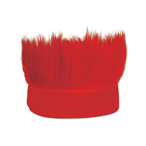 Beistle Hairy Headband, Red
