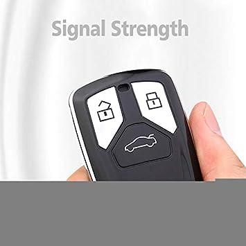 Key Protection Shell Auto Schl/üssel H/ülle Key Cover Case Etui Silikon mit Schl/üsselanh/änger F/ür 2016 2017 2018 Audi A3 A4 A5 A6 Q3 Q5 Q7 C5 C6 B6 B7 TT S5 S6 S7 3-Buttons Rosa