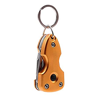 Outdoor Multifunction Tactical Keychain Tool Survival EDC Gear with Folding Knife Opener LED Flashlight Screwdrivers from PARAHAIR
