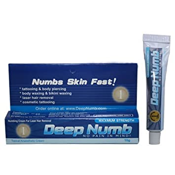 Amazoncom 10g Deep Numb Numbing Cream 4 Body Piercing