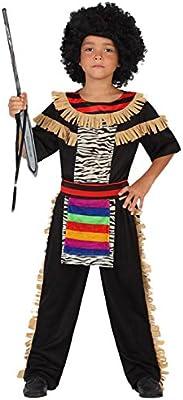 Atosa- Guerrero Disfraz Zulú, Color ((schwarz/bunt), 3 a 4 años ...