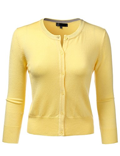 H2H Womens Long Sleeve Button Down Soft Knit Cardigan Sweater