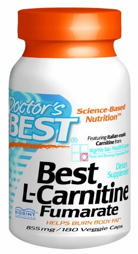 Doctor's Best Best L-Carnitine Fumarate Featuring Sigma Tau Carnitine (855 Mg) Vegetable Capsules, 180-Count by Doctor's Best