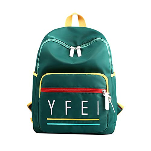 CCFAMILY Student's Backpack Large Capacity Alphabet Bag Fashion Travel College Backpack ()
