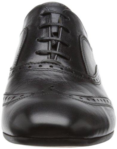 Hudson London Francis F403010 Herren Schnürhalbschuhe Schwarz (Black)
