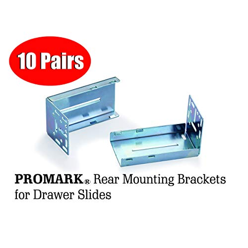 Promark Rear Mounting Brackets for Drawer Slides - 10 Pair Pack