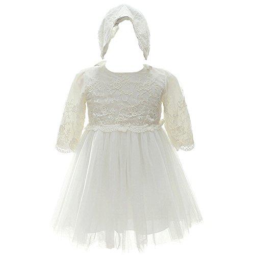 ivory dress baby girl - 8