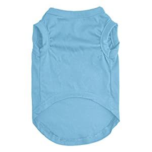 EXPAWLORER Prince Fashion Pet T-Shirt Small Dog Cat Vest Clothes Puppy Costumes for Chihuahua Yorkshire Terrier Blue M