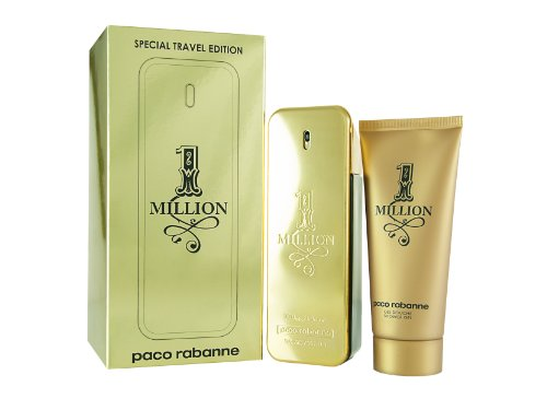 1 Million by Paco Rabanne for Men 2 Piece Set Includes: 3.4 oz Eau de Toilette Spray + 3.4 oz Shower ()