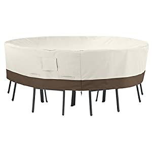 AmazonBasics Round Table and Chair Set Patio Cover - Large by AmazonBasics