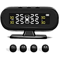 TOOGOO Smart Car Tpms Aromatherapy Tyre Pressure Monitoring System Solar Power Digital LCD Display Auto Security Alarm Systems Tyre Pressure