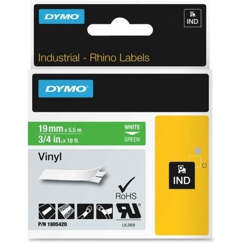 Dymo White on Green Color Coded Label - 0.75