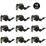 Gobrico Black Interior Door Handles Privacy Locks Levers Bed/Bath Leversets 10Sets