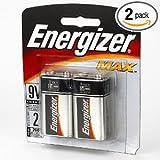 Energizer 9V Alkaline General Purpose Battery – Alkaline – 9V DC – 2 pack