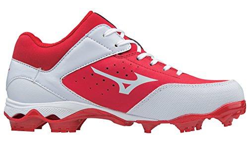 Mizuno (MIZD9) Frauen 9-Spike Fortgeschrittene Finch Elite 3 Fastpitch Cleat Softball Schuh Rot-Weiss