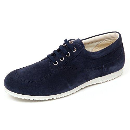 D0128 scarpa uomo HOGAN TRADITIONAL LO.TOP sneaker blu scuro shoe man Blu scuro