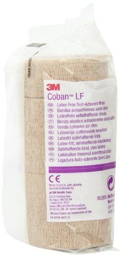 3M Coban LF Latex Free Self-Adherent Wrap, 30 Rolls (Pack of 6)