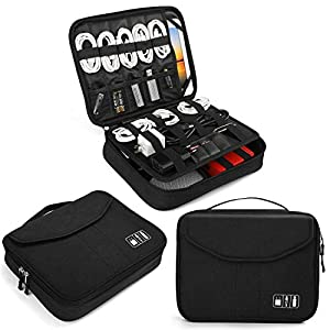 Electronics Bag, Jelly Comb Electronic Accessories Travel Cable Organizer Waterproof Cord Storage Bag for Cables, iPad…