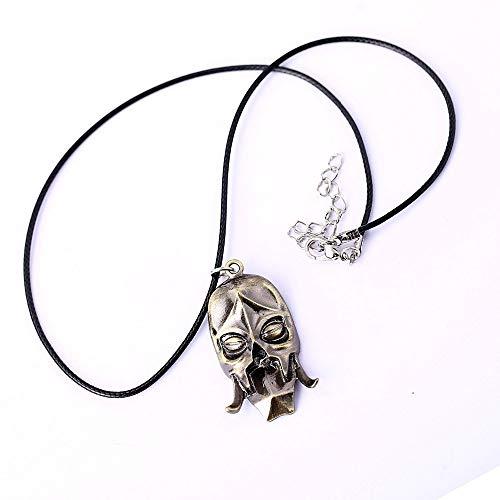 Mct12-12pcs/lot Dragon Priest Mask Necklace Game Konahrik Pendant Necklace Friendship Men Women Jewelry Choker Accessories