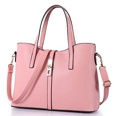 Bolsos De Moda Bolsa Grande De Tres Piezas De Bandolera Foto-portátil Paquete De Diagonal Pink