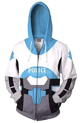 Riekinc Zip Hooded Sweatshirt Superhero Cosplay