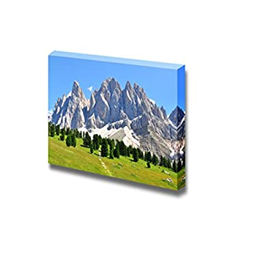 Professional Creation, Charming Print, Beautiful Scenery Landscape Mountain Peaks in Alps Italy Wall Decor Wood Framed