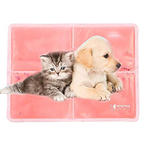 7e6b67e11c48 Pet Dog Cooling Mat Pad, Chilly Gel Comfort Pet Self Cooling Pad Cold Mat  for Dog Cat Mat Bed Kennels Non Toxic-Automatic Cooling Pad(40 * 30Cm)