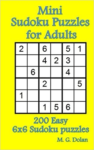 graphic about 6x6 Sudoku Printable known as Mini Sudoku Puzzles for Grown ups: 200 Simple 6x6 Sudoku puzzles