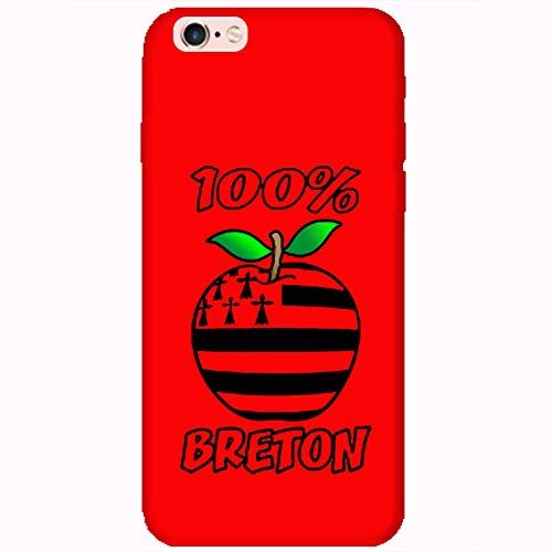 Coque Apple Iphone 6-6s - 100% Breton rouge